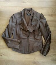 Ladies Definitions Size 12 Brown Soft Leather Jacket
