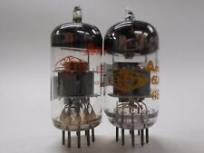 Japanese and Russian 6DJ8 Vacuum Tubes (2) 88/88% and 87/86% EDX