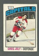 1976-77 OPC O-Pee-Chee Hockey Greg Joly #52 Washington Capitals *1