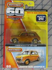 Austin Mini Cooper S Diecast Car 2012 Matchbox 60th Anniversary Edition #09 New