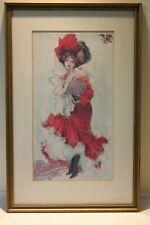 Vintage Budweiser Girl Poster
