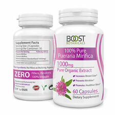 PUERARIA MIRIFICA 3000mg DAILY ORGANIC PURE EXTRACT BREAST ENLARGEMENT CAPSULES