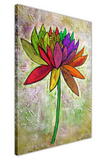 RAINBOW FLOWER OIL PAINTING REPRINT FRAMED CANVAS WALL ART PICTURES HOME PRINTS