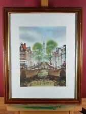 AMSTERDAM BY IVANOV V.A. CITY SCENE PICTURE PRINT
