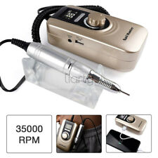 Electric Nail Art Drill File Machine Rechargeable 35000RPM Manicure Pedicure Set