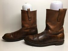 VTG MENS L.L. BEAN COWBOY WORK BROWN BOOTS SIZE 10.5?
