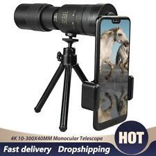 10-300X 40mm Hd Monocular Telescope Zoom Lens Outdoor Portable Tripod Phone Clip