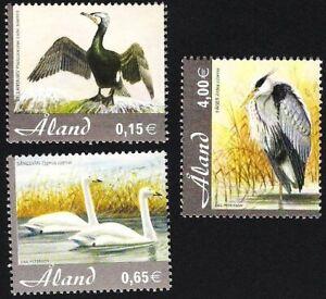 Aland 2005 (01) - Birds - Great Cormorant, Whooper Swan, Grey Heron