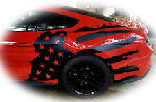 2015/2016/2017/2018 Mustang [TAF_DS] -Tattered American Flag- Driver Side