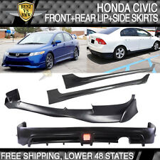 06-08 Honda Civic 4Dr SI Mugen PU Front Lip + MUG RR PP Rear Lip + Side Skirt