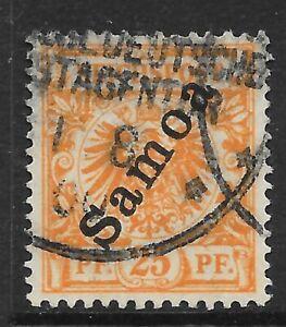 SAMOA (GERMAN) SGG5 1900 25pf ORANGE USED