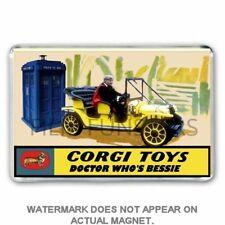 CORGI TOYS inspired Jon Pertwee DOCTOR WHO & BESSIE  ADVERT JUMBO Fridge  Magnet