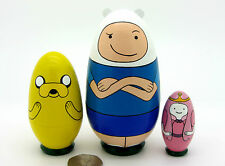 Russian nesting dolls Adventure Time Finn Jake Princess Bubblegum small Babushka
