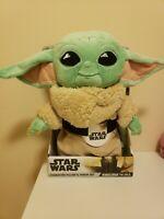 Disney Mandalorian THE CHILD Baby Yoda Plush Pillow and Fleece Throw Blanket Set