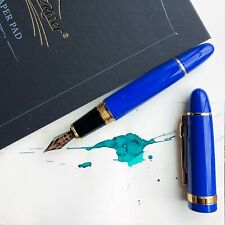 JINHAO 159 Blue & Gold with 18k Gold Plated Trim Fountain Pen Medium M Nib