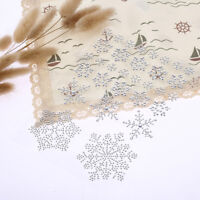 31 x Clear Self Adhesive Mixed Shape Snowflake Acrylic Gems