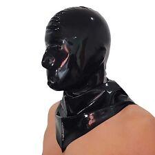 Black Latex Rubber GUMMI Hangman's Hood Mask Hot (one Size)