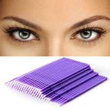 100PCS Purple Swab Micro Brush Disposable Microbrush Eyelash Extensions Kits'