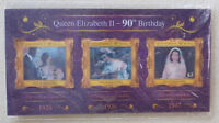 2016 NEW ZEALAND QEII 90tH BIRTHDAY 'HOLOGRAM' 3 STAMP MINI SHEET