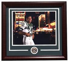 Joe Namath Framed 11x14 NY Jets Rookie Times Square Broadway Photo w/ Jets Coin