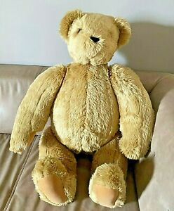 "BIG Vermont Teddy Bear 36"" Fully Jointed Nice and Clean 3 Feet Tall"