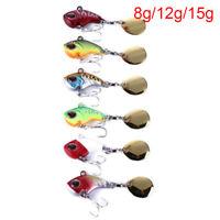 Details about  /Rotate Vibration Treble Hook VIB Lure Metal Fishing Bait Wobblers Crankbaits
