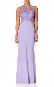 BNWT Forever Unique Starlet Lilac Embellished Evening Occasion Maxi Prom Dress 8