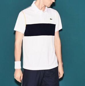Lacoste Sport Polo Shirt BNWT size 2XL (7) Mens White Ultra Dry Fit DH7181