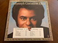 JOHNNY MATHIS GREATEST HITS WHITE LABEL PROMO VINYL LP