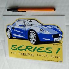LOTUS Elise S1 SERIE 1 uno sticker decal Forma Taglio Blu 180mm x 115mm