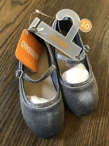 NWT Gymboree girl HOLIDAY gray silver velvet mary jane dress shoes size 10