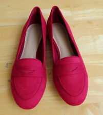 Pretty Red Flat Covered Loafers from Charles & Keith  - Size 38