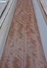 "Makore Figured Block Mottle wood veneer 7"" x 72"" raw no backing 1/42"" thick"
