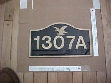 (1) Builders Sign House Number Plaque, Plate Max. 5 numbers