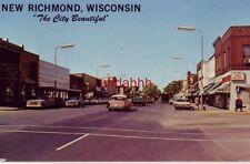 "NEW RICHMOND, WI. ""The City Beautiful"" circa 1965 main business district"