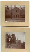 2 Antique Matted Photo's Photo-Large Building-Close Up & Side-Broadway Hall