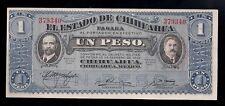 F.C. BILLETE DE MEXICO, 1 PESO, CHIHUAHUA, 1914. S/C. S-529c.