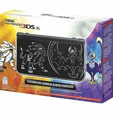 New Nintendo 3DS XL Solgaleo & Lunala Edition - Black - USA Version