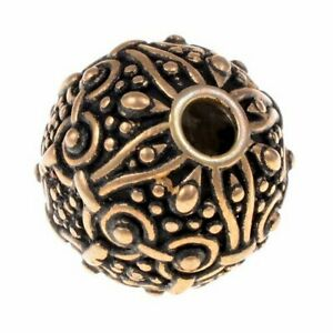 Wikinger-Perle Nr. B12 - Perle Bartperle Haarperle Haarschmuck Wikinger 4mm Loch