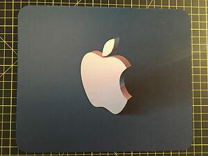3D APPLE effect Blue Print MOUSEMAT MOUSE MAT PAD compatible  Mac iMac MacBook