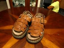 Dr. Martens Brown Fisherman Sandals Leather  Buckle AirWair Men's  Size 9 US