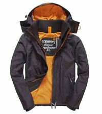 Superdry Tech Hood Pop Zip Windcheater Jacket - Grey - Size L - New With Tags