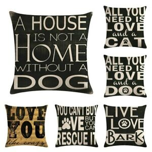 Cushion Cover English alphabet dog and cat design  throw pillow covers