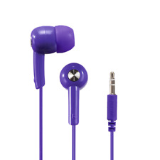 "Hama ""Basic4Music"" in-ear stereo earphones in Ultra Violet Purple (UK Stock) NEW"