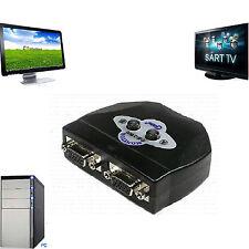 2 PORT Manual Monitor Switchbox VGA Selector Splitter 2 to 1  LCD TV controller