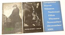 3 x National Film Theatre 1961 PROGRAMMES Thrillers of the 1930's etc