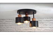 Deckenlampe Deckenleuchte 382-E3 schwarze Skandi Deckenbeleuchtung skandinavisch