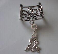 Gemini Scarf Bail Ring Zodiac Astrology Silver Coloured + Free Gift Bag