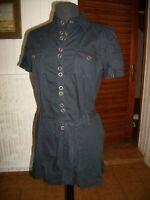 Robe courte chemise coton noir FREEMAN T PORTER L 40/42 manche courte 15ETJ13
