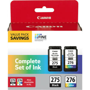 Genuine Canon PG-275 CL-276 Ink Cartridges Black Color TS3520 TS3522 NEW